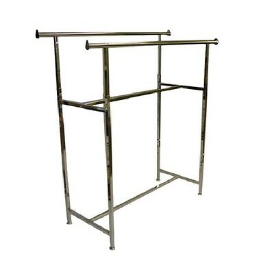 H Rack Commercial Double Bar Hd Garment Rack New