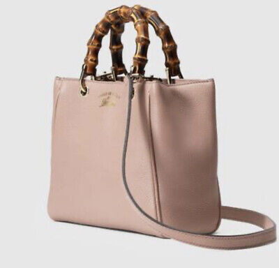 GUCCI Bamboo Mini Shopper 2Way 368823 Beige Leather Rare Brand New