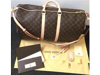 Louis Vuitton Keepall 55 Bandoulière Monogram Bandouliere Travel Bag
