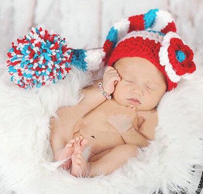 HOT New Baby Girls Boy Newborn Knit Crochet Clothes Photo Prop Outfits 0-9M +E ()