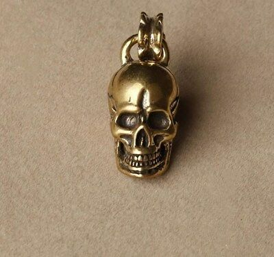 Chinese Pure brass old conlllect skull small lucky pendant