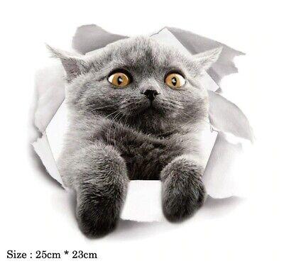 3D pet cat Wall Toilet Sticker Home Decoration Animal poster Vinyl Decals Art