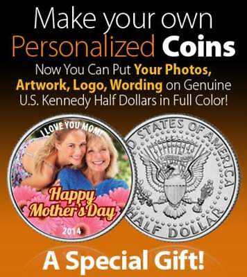 Personalized Any Photo on JFK Half Dollar Coin FIRST TIME EVER on Legal Tender