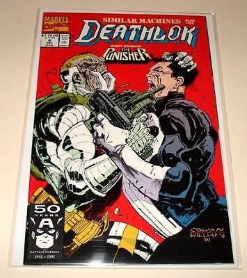 DEATHLOK # 6  Marvel Comic  Dec 1991 VFN/NM   Vs. PUNISHER