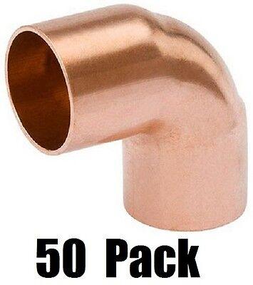 50 W61622 12 Wrot Copper 90 Degree Elbow Copper X Copper Plumbing Fittings