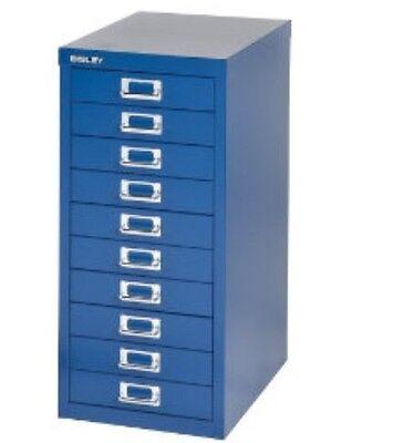 BISLEY - 10 MULTI DRAWER FILING CABINET - BRAND  NEW - BLUE