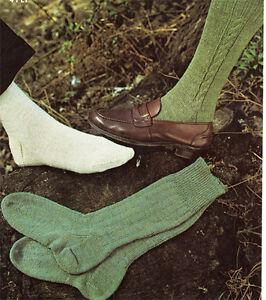 Socks Knitting pattern- nice designs to knit in 4 ply- Vintage Pattern