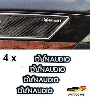 4 x Emblemas Metal 3D Auto-Adhesivo Logo para Altavoz DYNAUDIO