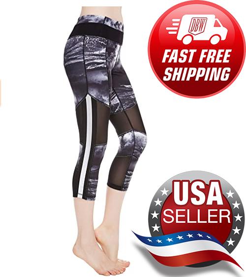 NWT Active Athletic Capri Leggings // Cropped Yoga Workout P