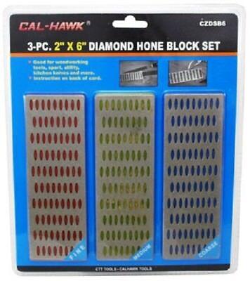 """3-pc. 2"""" x 6"""" Diamond Sharpening Hone Block Set"""