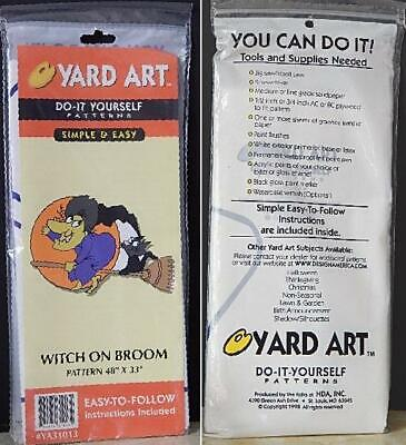 Easy Do It Yourself Halloween Crafts ( Yard Art Do-It-Yourself Pattern Simple & Easy Witch n Broom 48