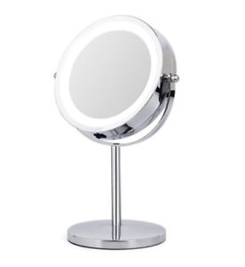 New LED Lighted Makeup Mirror, 10x Magnification