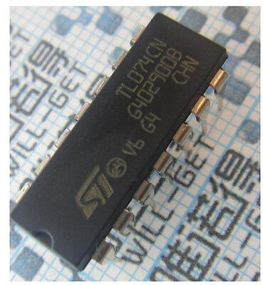 10pcs TL074 TL074CN IC OP AMP QUAD JFET DIP-14  on Rummage