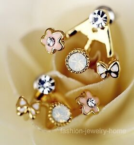 A Pair Korean Style Lovely Flower Earrings Stud Earring