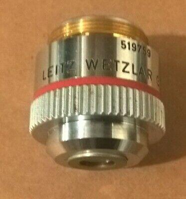 Leitz Wetzlar 4x Objective Ef 40.12 160- Microscope Lens Laborlux 519759 Mm