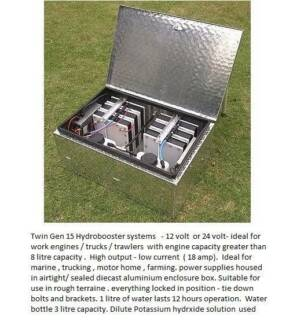 Gen 15 Hydrogen HHO System Save fuel 4 trawlers, boats, outboards