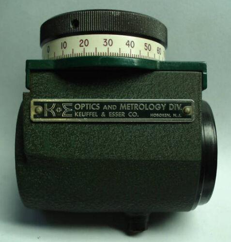 K&E Keuffel & Esser Optical Micrometer w Vernier Scale (71-1111)