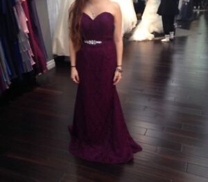 Beautiful Purple lace gown!