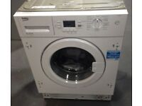 Beko White Integrated Washing Machine QWM84