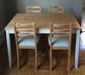 Ikea Lerhamn Table with 4 Lerhamn Chairs