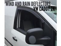 Volkswagen Caddy 2K Model SNED Wind & Rain Deflectors Smoked Front Pair 2pcs NEW