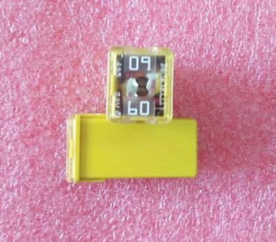 Littelfuse 0495060 JCASE Cartridge Fuse 60 Amp Yellow Housing - 2 Pack Littelfuse Cartridge Fuse