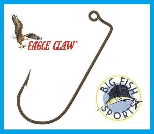 100 #1//0 Eagle Claw 570 Bronze Jig Hooks for Jig Molds FREE USA SHIPPING NEW!
