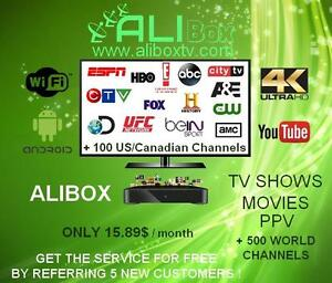 GUARANTEED SATISFACTION!! Only $ 15.89 per month for your tv channels, movies,  tv shows, sports, ppv and more !!