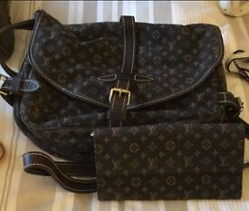 Louis Vuitton genuine saddle bag and matching purse