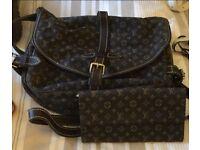 Louis Vuitton genuine saddle bag and matching purse