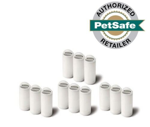 12 Pack PETSAFE Drinkwell Carbon Filters for 360 Pet Water Fountain Authentic