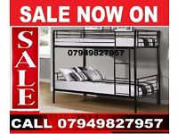 Single Top Single Bottom Metal Bunk Bed Frame With Option Of Mattresses ALSKI