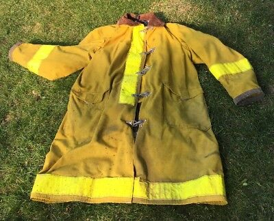 Globe Firefighter Turnout Bunker Nomex Coat Size 50 With 2 Liners Made Usa