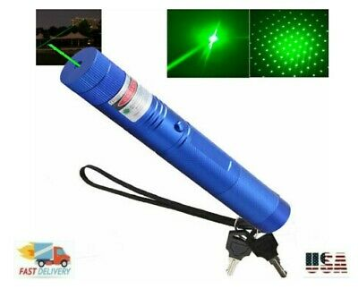 900miles Laser Pointer Rechargeable 532nm Military Blue Batterychargercap