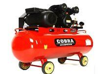 COBRA 100 LITRE BELT DRIVE 3HP 11.6 CFM V ENGINE AIR COMPRESSOR
