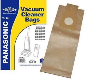 To fit Panasonic U20E Vacuum Cleaner Paper Dust Bag 5 Pack