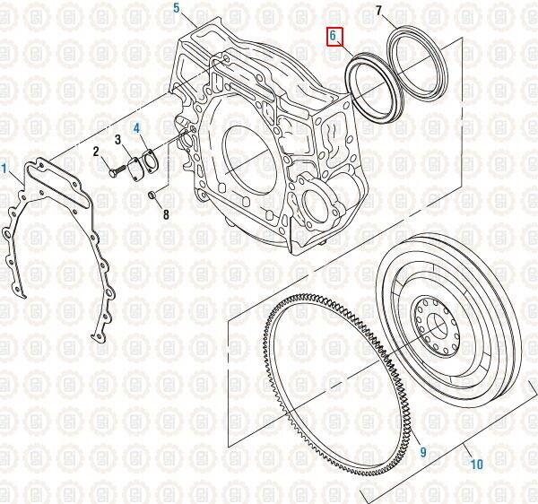 Rear Crankshaft Seal Kit for ISX. PAI# 136131 Ref