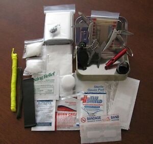 Altoids Tin Ultimate Pocket Survival Kit Compact First Aid, Light, Fire, Shelter
