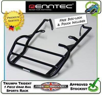 NEW RENNTEC LUGGAGE CARRIER SPORTS RACK IN BLACK TO FIT THE TRIUMPH TR
