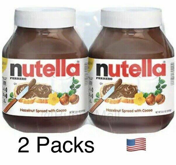 ORIGINAL NUTELLA TWIN PACK Hazelnut Spread w Cocoa   Kosher   33.5 oz (4.2 lbs)