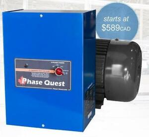 Phase Quest Digital Rotary Phase Converters / Complete Phase Quest Converter Systems and Transformers