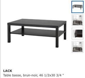 Black LACK IKEA table // Table basse IKEA LACK noire