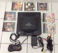 NEO GEO CD Console w/ 7 Games - IMPORT Japanese - FREE DELIVERY!