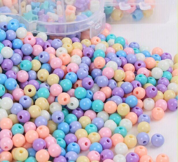 200pcs Acrylic Stars Beads Spacer DIY Bracelet Jewelry Kids Beaded Findings