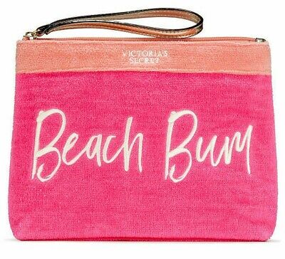 Victoria's Secret VS Beach Bum Bikini Waterproof Bag Makeup Case Wristlet - Hobo Makeup