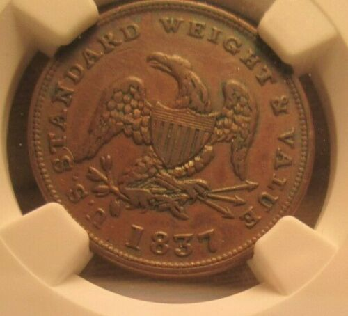 1837 Half Cent Token NGC XF(45)