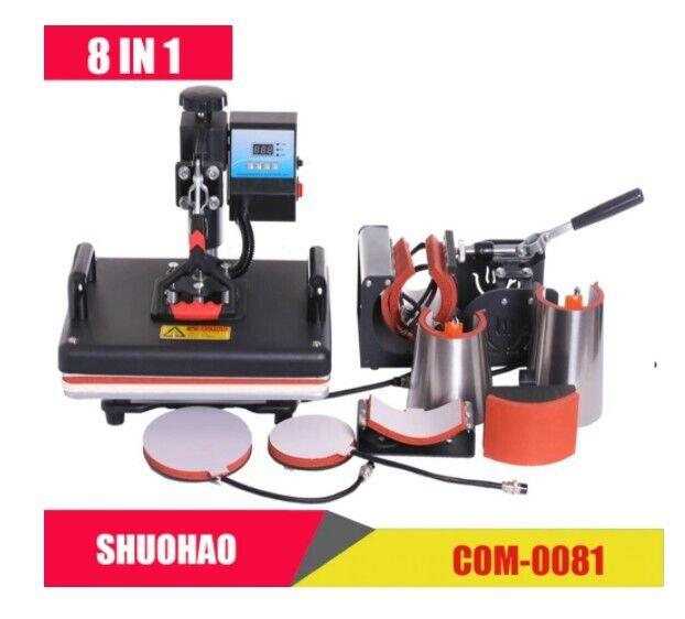 15 X 15 8 IN 1 Combo Heat Press Machine Sublimation Printer Heat Transfer