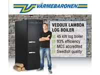 Ex Demo 45 kW Biomass Log Boiler 50% Off