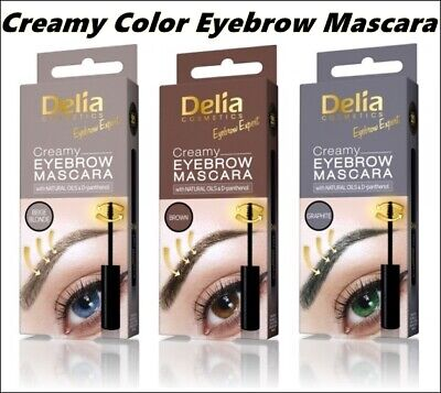 Best Product Delia EYEBROW Color Cream MASCARA Beige Blonde, Brown Graphite 4