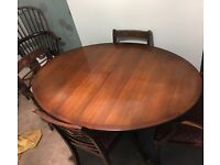 RACKSTRAW DINING TABLE & CHAIRS